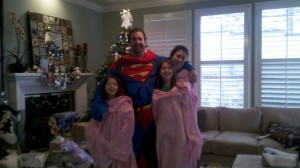 What do you get the dad who has everything for Christmas? A superman Snuggie