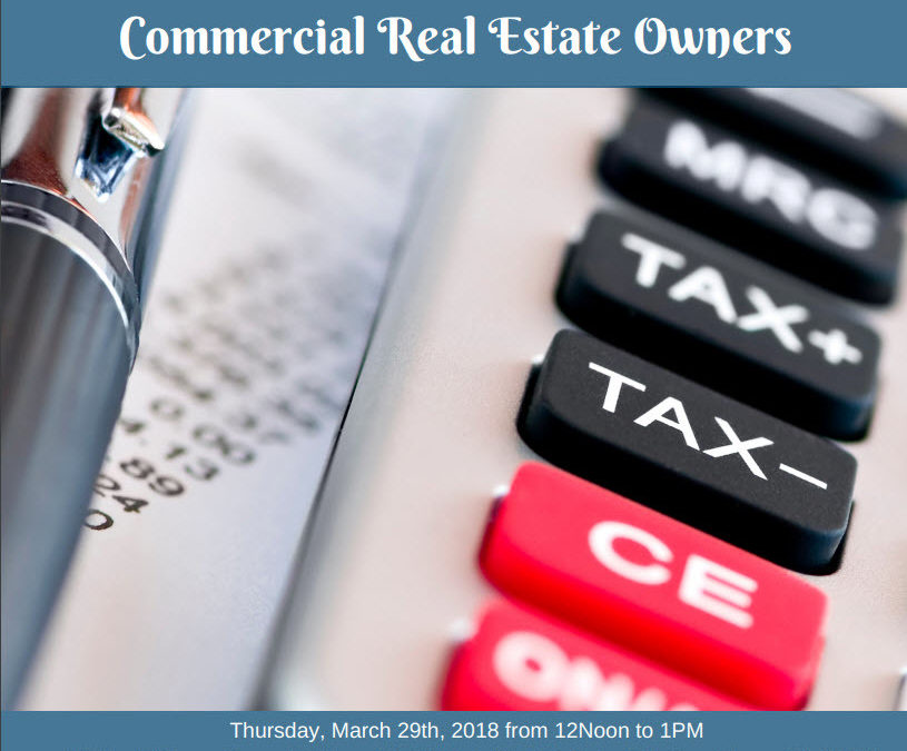 The New Tax Laws Effects on Commercial Real Estate Live Presentation
