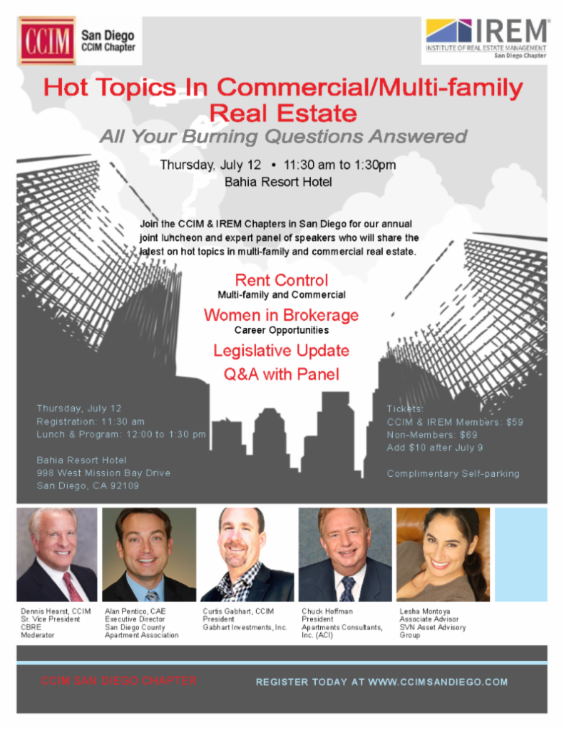 CCIM San Diego Hot Topics In Commercial Real Estate