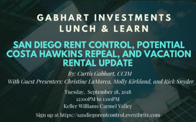 San Diego Rent Control and Vacation Rental Update Lunch & Learn